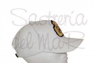 Gorra blanca Capitán de Yate (escudo fantasia )