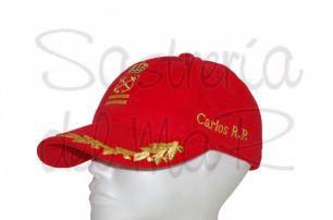 Gorra laureles Patrón de Yate roja personalizada