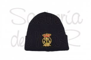 Gorro lana azul marino Real Liga Naval Española