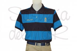 Polo rayas azules Patrón de Yate personalizado