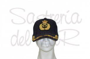 Gorra laureles azul PER bordada a mano ( escudo fantasia )