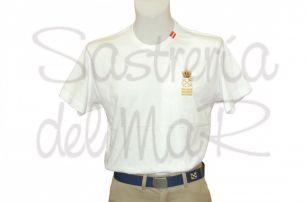 Camiseta con bandera color blanco Capitán de Yate