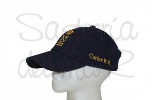 Gorra azul marino Patrón de Yate personalizada