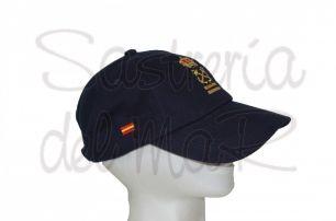 Gorra azul marino Patrón de Yate bandera