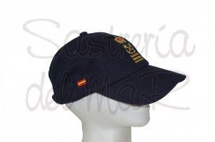 Gorra azul marino Capitán de Yate nombre + bandera