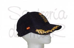 Gorra laureles azul Capitan  de yate bandera