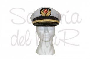 Gorra de plato Capitán de Marina Mercante Medico
