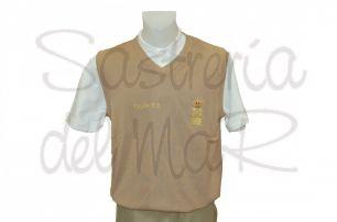Chaleco punto color beig Capitán de Yate personalizado