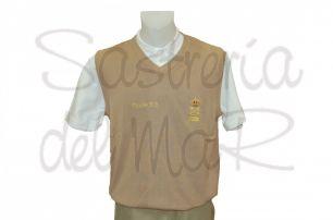 Chaleco punto color beig Patrón de Yate personalizado