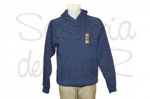 Sudadera capucha Capitán de Yate azul marino