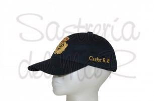 Gorra azul Capitán de Yate bordada a mano integrado personalizada