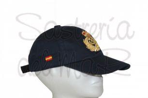 Gorra azul Capitán de Yate bordada a mano integrado bandera