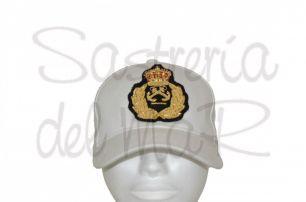 Gorra blanca PER bordado a mano (escudo fantasia )