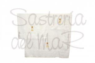 Juego de toallas blanco para baño Capitán de Yate