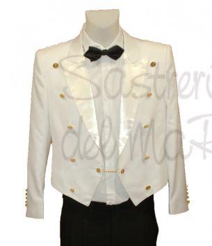 Uniforme con chupa de Gala de verano color blanco