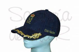 Gorra laureles azul PER y nombre asociación o club náutico
