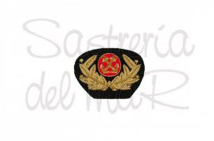 Escudo de médico de Marina Mercante bordado a mano