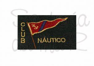 Escudo asociación o club náutico bordado a máquina