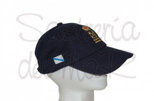 Gorra azul marino Patrón de Yate bandera Galicia