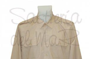 Camisa beig charreteras para galones blandos