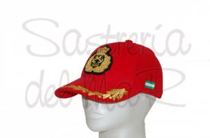 Gorra laureles rojo Capitán de Yate bandera Andalucia