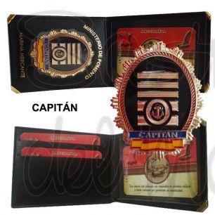 Cartera con placa Capitán Marina Mercante