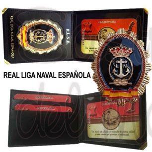 Cartera con placa Real Liga Naval Española