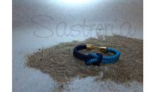 Pulsera náutica cabo azul combinado